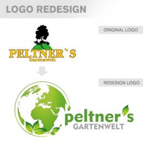 Peltner's Gartenwelt Logoredesign