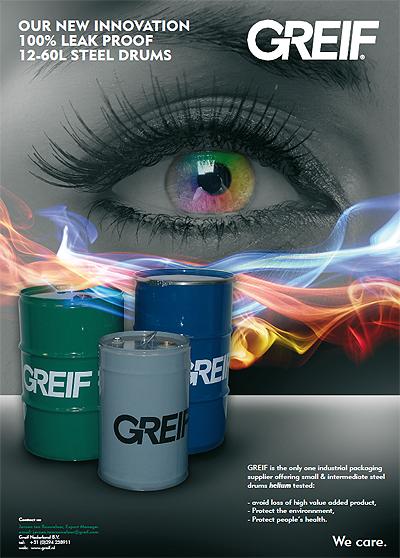 100% Helium Leak Proof Ad. / Greif Inc.