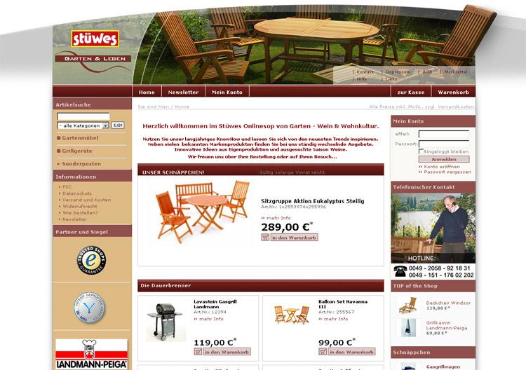Stüwes Garten und Leben OXID Shop | Grafikdesign Webdesign ...
