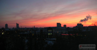 Schröder Media - Office Sunset - Leipzig Skyline