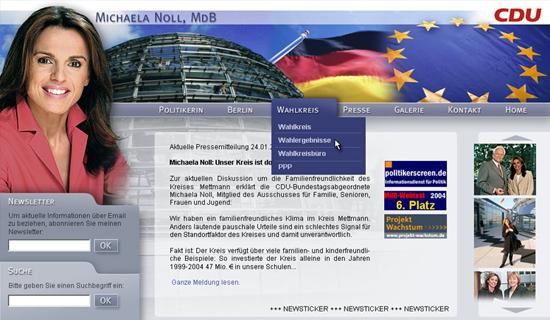 Schröder Media - Webdesign Leipzig : CDU Michaela Noll