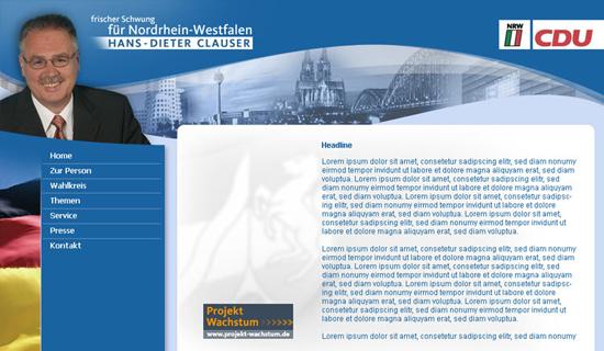 Schröder Media - Webdesign Leipzig : CDU Hans-Dieter Clauser