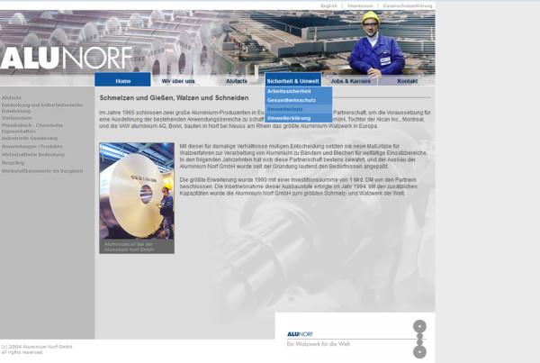 Schröder Media - Webdesign Leipzig : Alunorf Aluminium Walzwerk