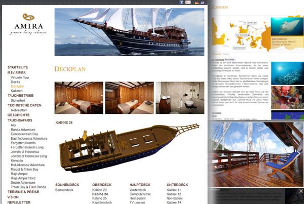Schröder Media - Webdesign Leipzig : Amira Tauchurlaub, Tauch Safari, Indonesien