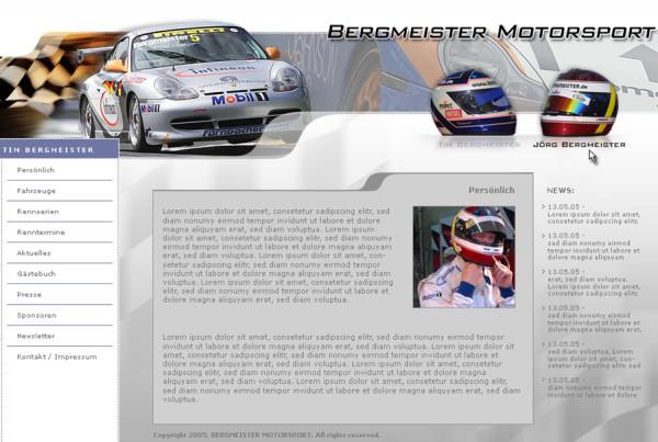 Schröder Media - Webdesign Leipzig : Bergmeister Motorsport - Tim Bergmeister - Jörg Bergmeister - Porsche