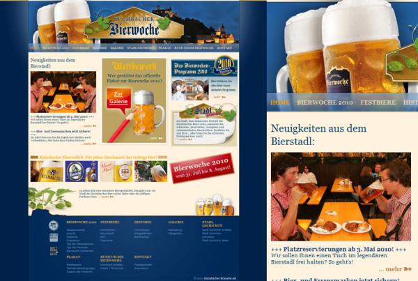 Schröder Media - Webdesign Leipzig : Kulmbacher Bierwoche Webdesign