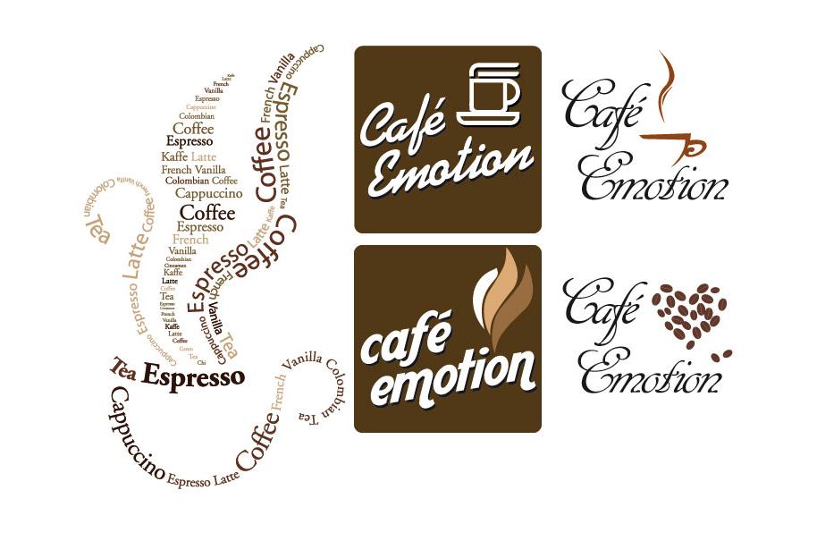 Schröder Media - Logodesign Leipzig : Café Emotion, Cafe, Kaffee Logodesign
