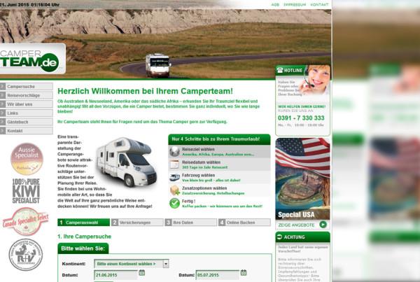 Schröder Media - Webdesign Leipzig : Camper Team, Urlaub Camper Webdesign
