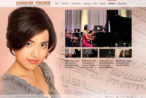 Schröder Media - Webdesign Leipzig : Caroline Fischer Pianist Webdesign Genuin Records Leipzig