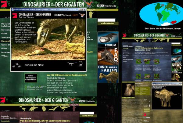 Schröder Media - Webdesign Leipzig : Pro7 / BBC - TV Serie : Dinosaurier im Reich der Giganten