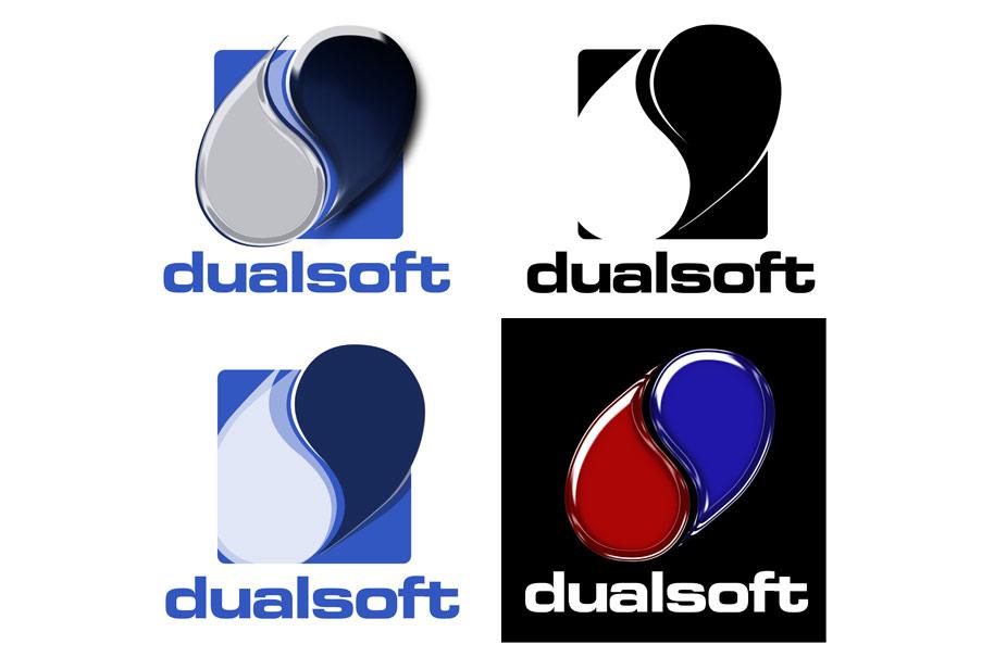 Schröder Media - Logodesign Leipzig : Dualsoft, yin yang Logodesign