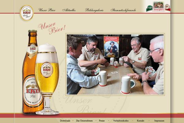 Schröder Media - Webdesign Leipzig : EKU Bier Webdesign