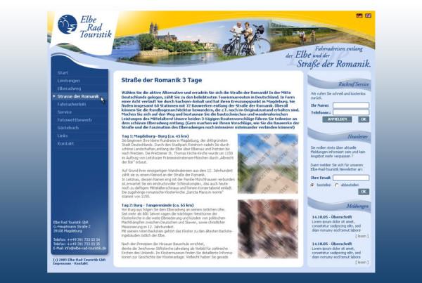 Schröder Media - Webdesign Leipzig : Elbe Rad Touristik, Elbe Rad Weg Webdesign