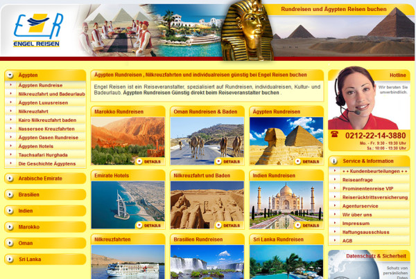 Schröder Media - Webdesign Leipzig : Ägypten Urlaub Webdesign Engelreisen Solingen