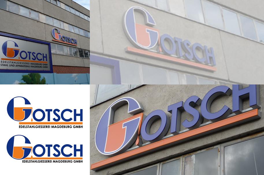 Schröder Media - Logodesign Leipzig : Gotsch Magdeburg Logodesign Edelstahlgiesserei