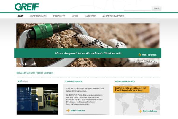 Schröder Media - Webdesign Leipzig : Greif Germany GmbH - Industrieverpackungen