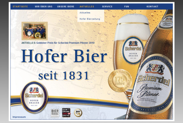Schröder Media - Webdesign Leipzig : Hofer Bier Webdesign