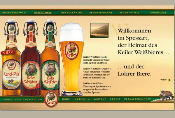 Schröder Media - Webdesign Leipzig : Keiler Weißbier Webdesign