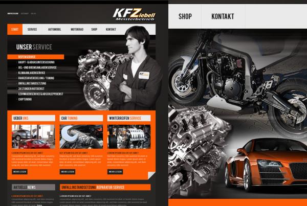 Schröder Media - Webdesign Leipzig : KFZ Auto Webdesign Werkstatt