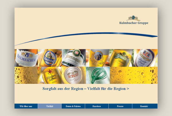 Schröder Media - Webdesign Leipzig : Kulmbacher Brauerei AG Gruppe Webdesign