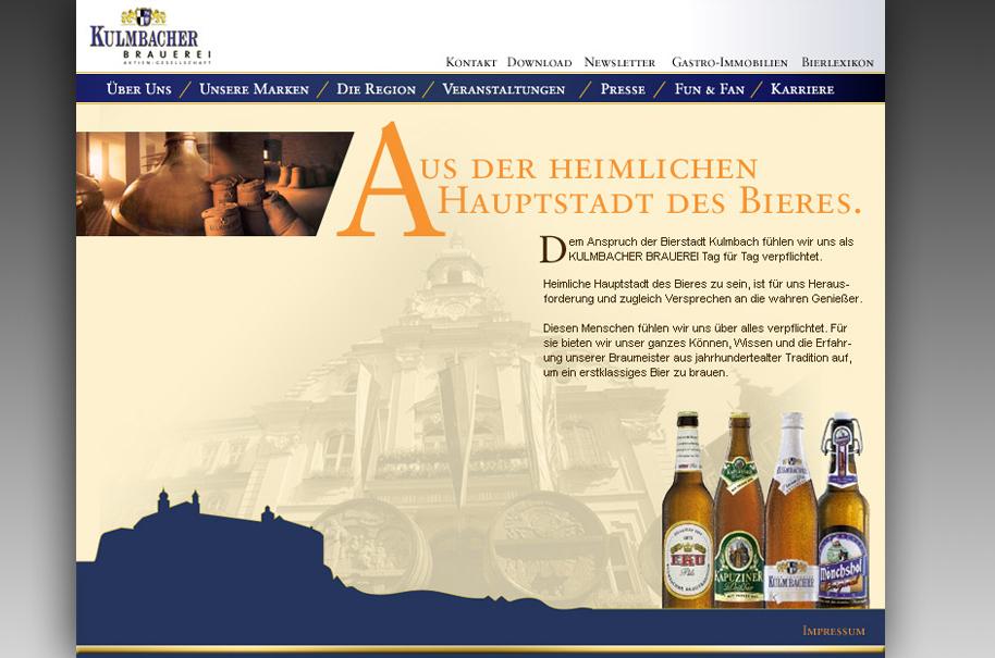 Schröder Media - Webdesign Leipzig : Kulmbacher Brauerei AG - Webdesign