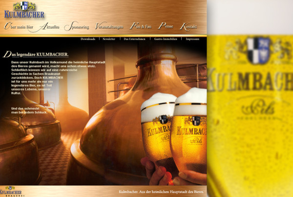 Schröder Media - Webdesign Leipzig : Kulmbacher Bier Webdesign
