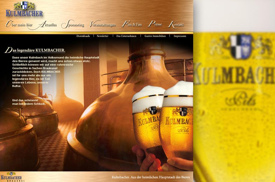 Schröder Media - Webdesign Leipzig : Kulmbacher Bier Webdesign