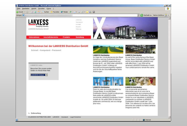 Schröder Media - Webdesign Leipzig : Lanxess Webdesign Corporate Design