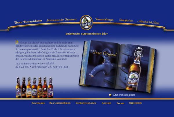 Schröder Media - Webdesign Leipzig : Mönchshof Bier Kellerbier Webdesign