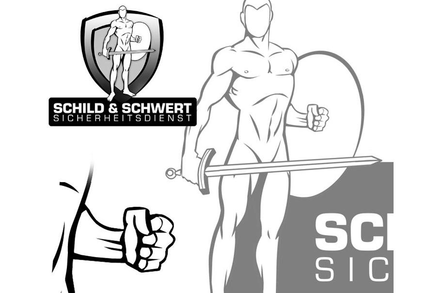 Schröder Media - Logodesign Leipzig : Schild und Schwert Sicherheitsdienst