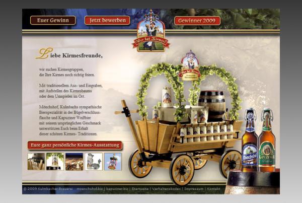 Schröder Media - Webdesign Leipzig : Kulmbacher Brauerei AG - Wer hat Kirmes Webdesign