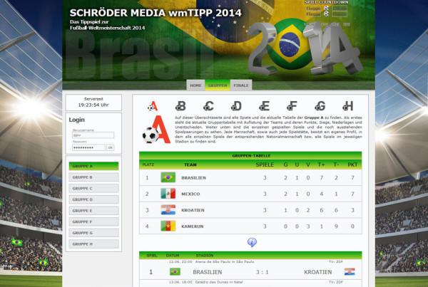 Schröder Media - Webdesign Leipzig : WMTippspiel WM2014 Brasilien Tippspiel Wetten