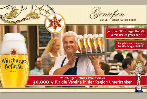 Schröder Media - Webdesign Leipzig : Würzburger Hofbräu Bier Webdesign