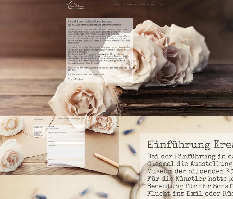 Poetikhaus – Kreatives Schreiben lernen – Webdesign/Logodesign