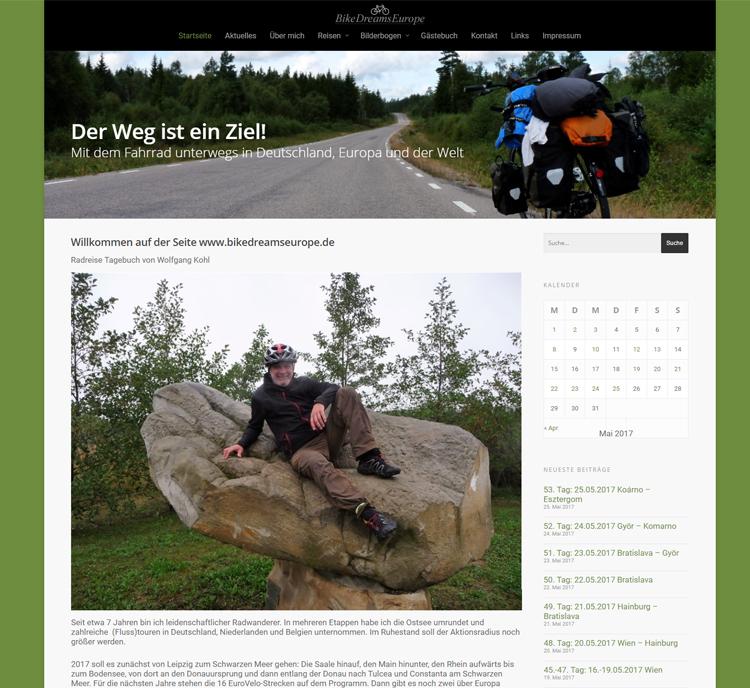 BikeDreamsEurope – Wolfgang Kohl – Reiseblog Webdesign