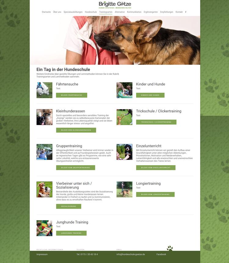 Hundeschule / Hundekommunikationsschule Brigitte Götze – Webdesign