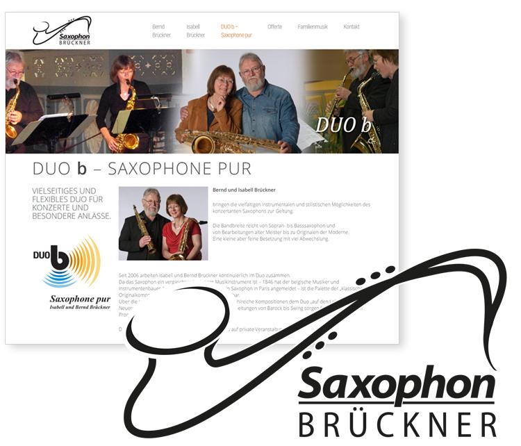 Saxophon Brückner – Duo B / Naunhof bei Leipzig – Webdesign & Logodesign