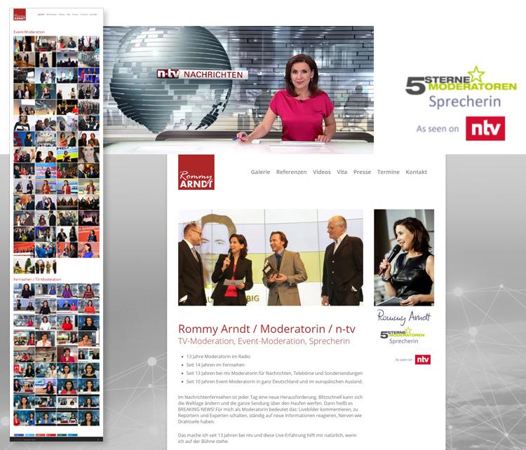 Rommy Arndt – Event- und TV Moderatorin – ntv – Webdesign Leipzig