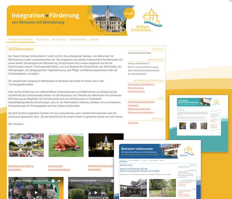 Schloss Schönefeld e.V. Leipzig – Webdesign / Admin – Schröder Media