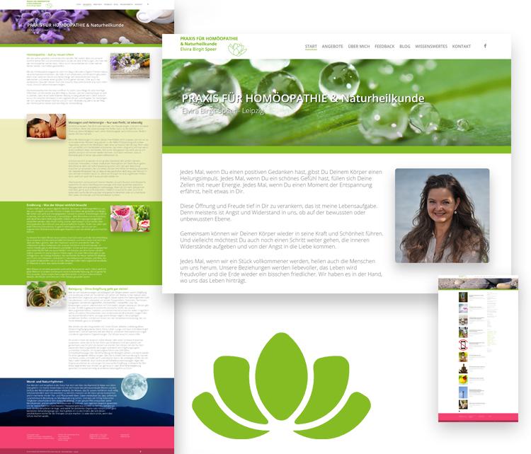 Praxis für Homöopathie & Naturheilkunde Elvira Speer – Webdesign Leipzig