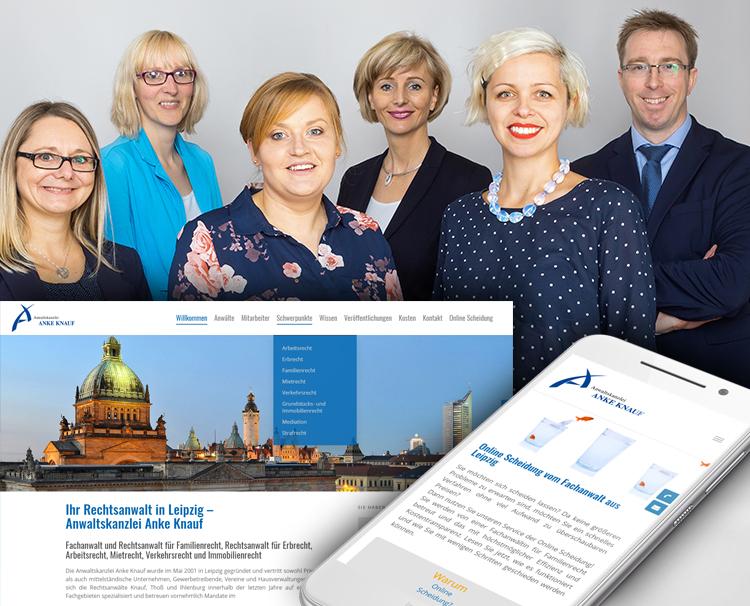 Rechtsanwalt Kanzlei Anke Knauf – Webdesign Leipzig