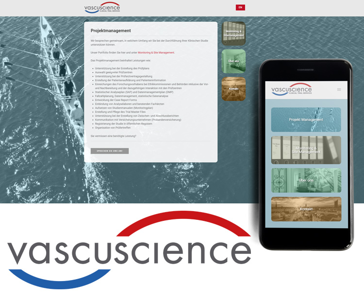 Vascuscience GmbH – Webdesign Leipzig