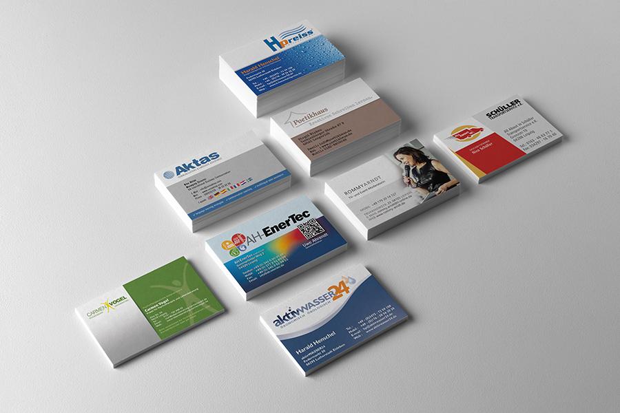 Visitenkarten Designs 001 Grafikdesign Webdesign